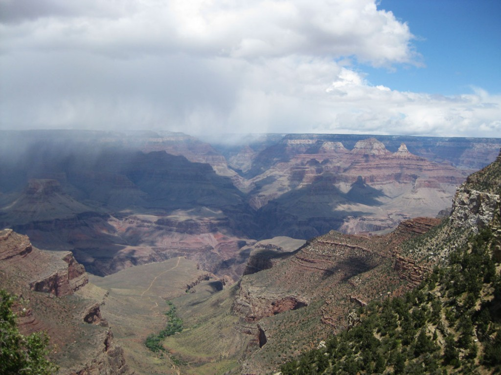 The view from the south rim of the Grand Canyon.