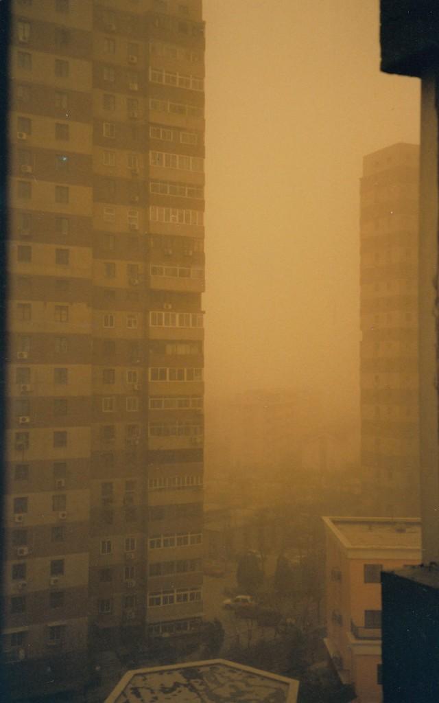 Beijing dust storm.