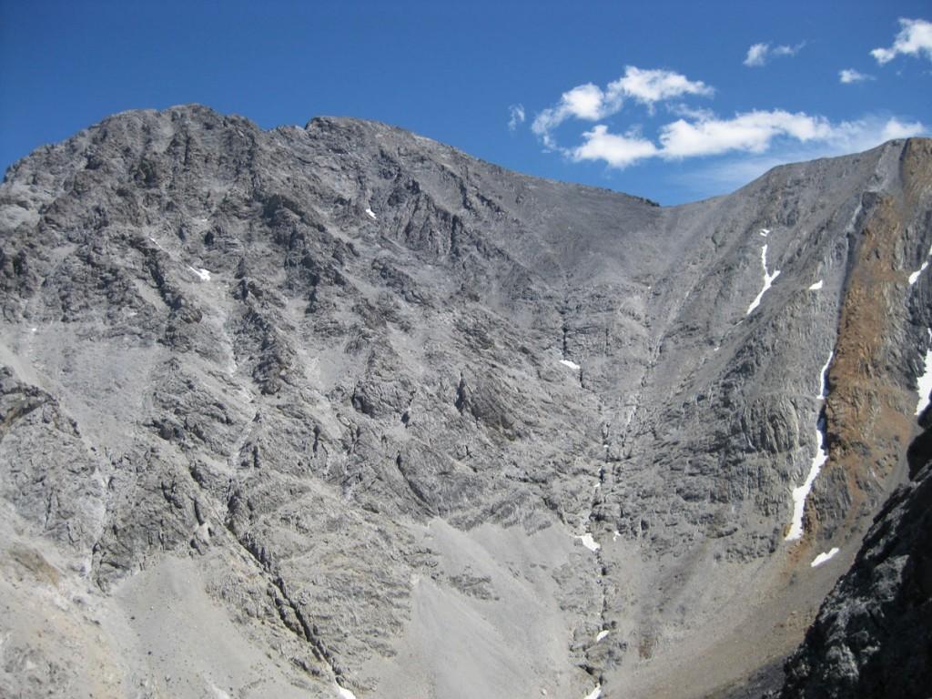 Borah Peak. The route I took follows the right-hand skyline.