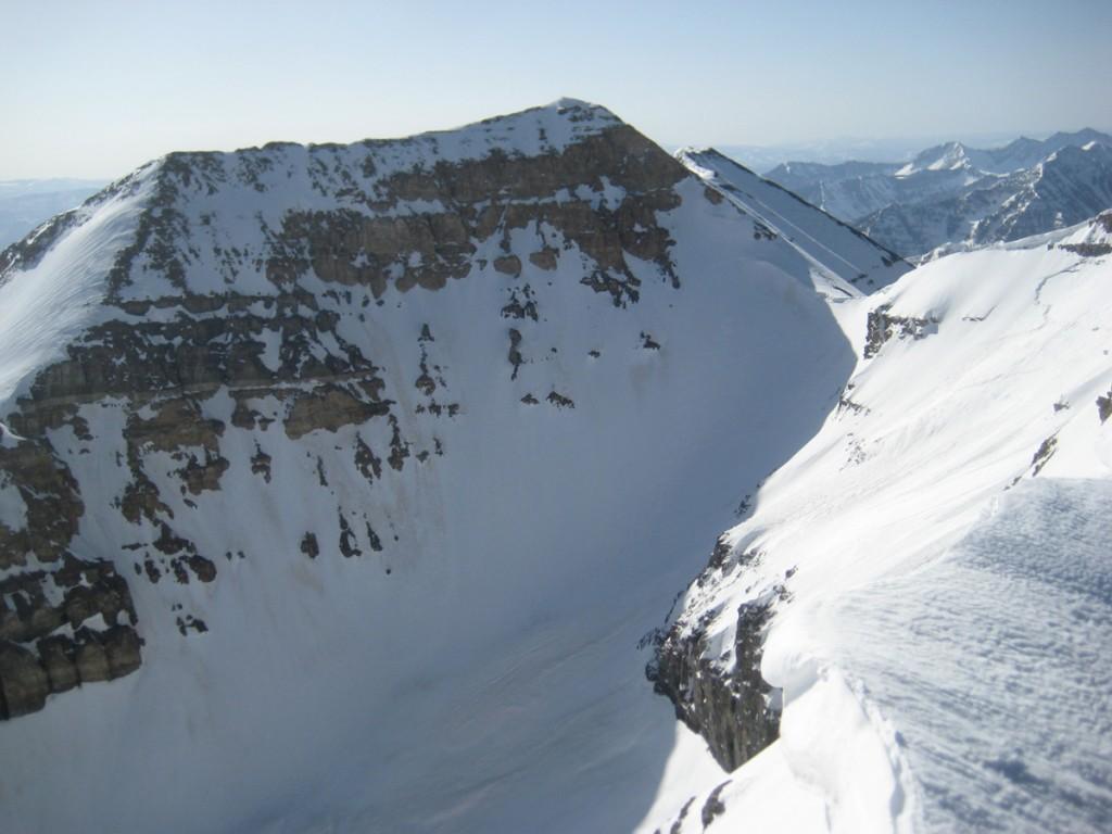 """Looking down onto the Timpanogos """"glacier."""""""