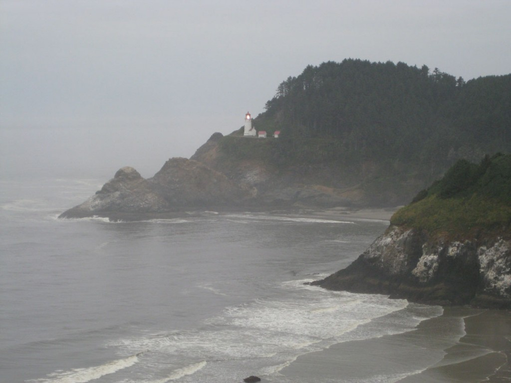 Lighthouse on the Oregon coast.