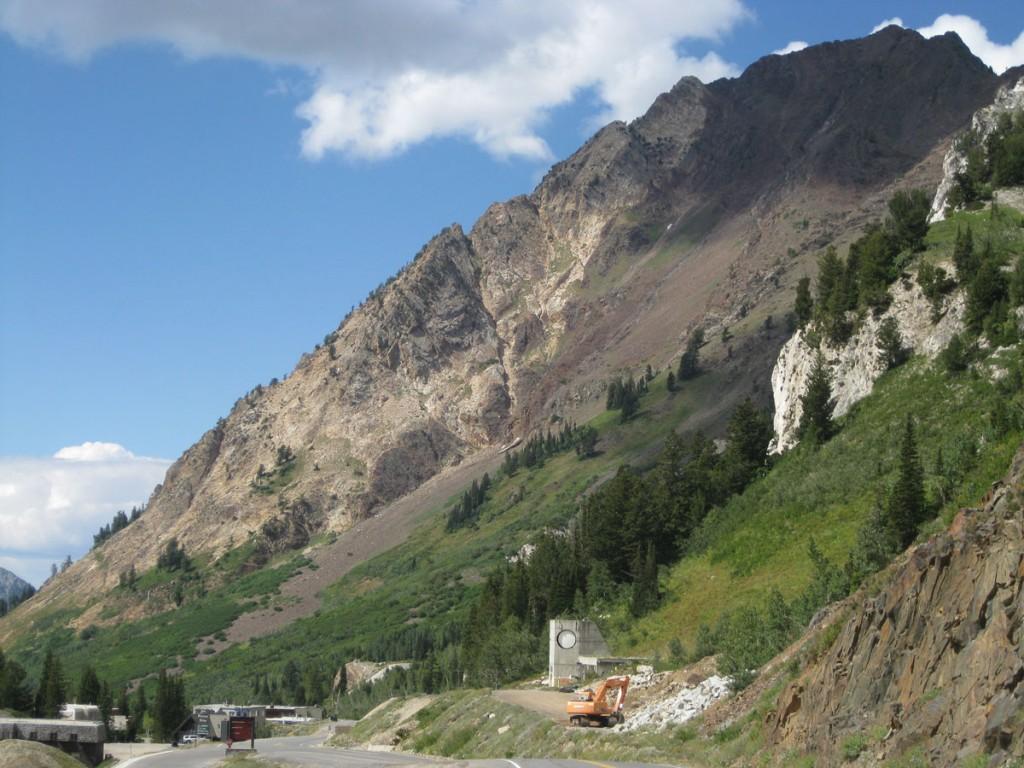The South Ridge follows the skyline.