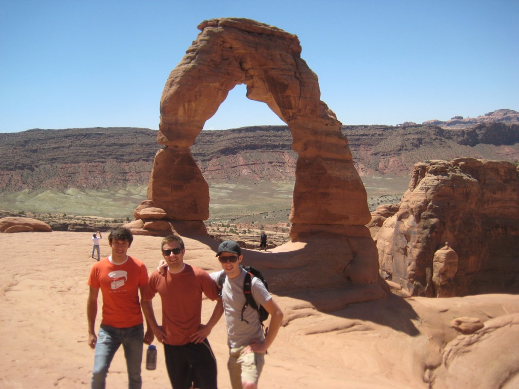 Me, Jeff, and Taylor in front of Delicate Arch in Arches.