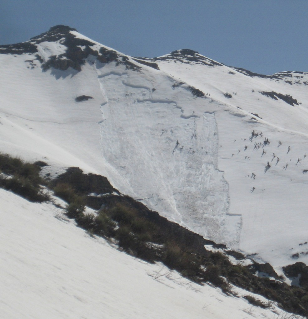 The scar of a massive slab avalanche.