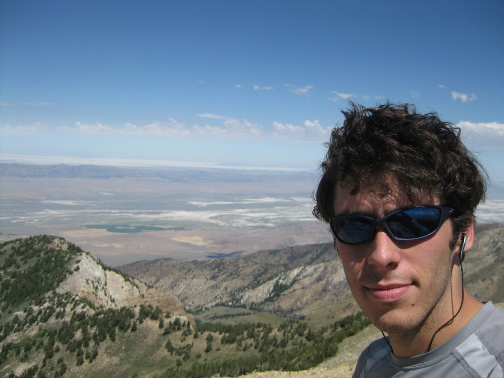 Me on top of Deseret Peak (11,031'). The Great Salt Lake is in the background.