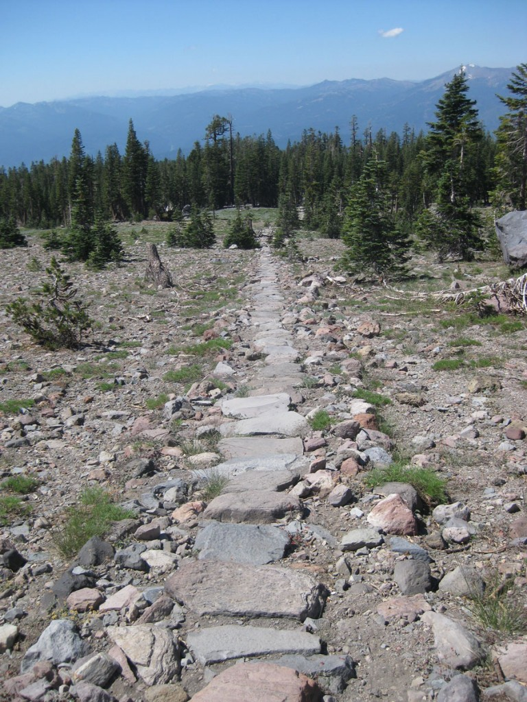 "The stone ""causeway"" near Horse Camp. Now THAT is a trail."
