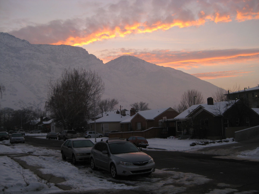 The sky when I walked out of my front door. I love living so close to the mountains.