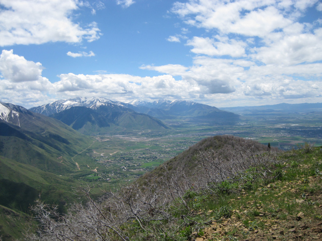 Looking out to Utah Valley from Powerhouse Mountain.