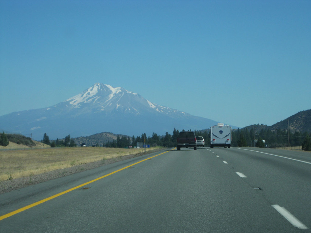 Mt. Shasta from the north on I-5