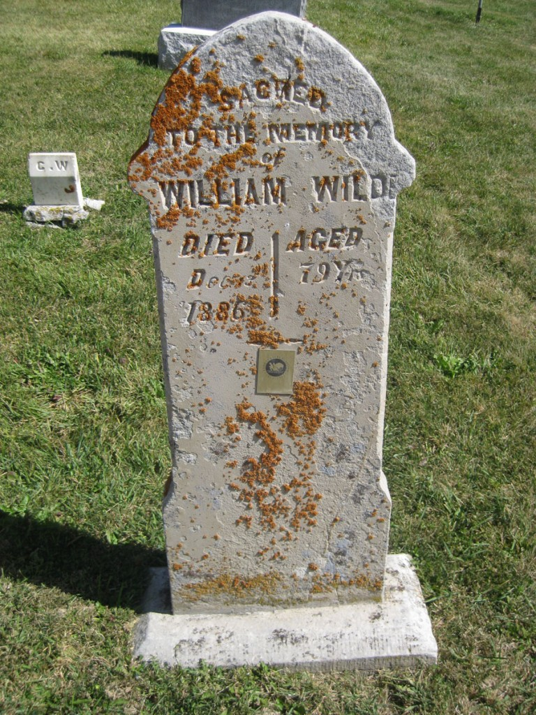 The grave of William Wilde, my great, great, great, great grandfather.