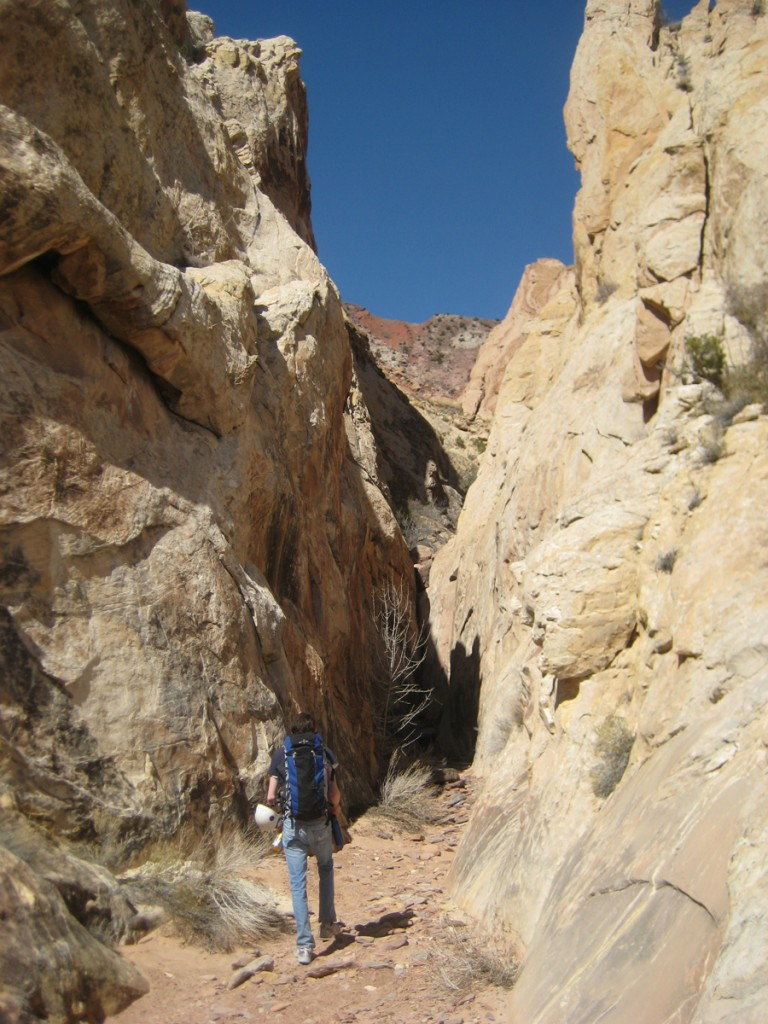 The slot canyon on the approach.