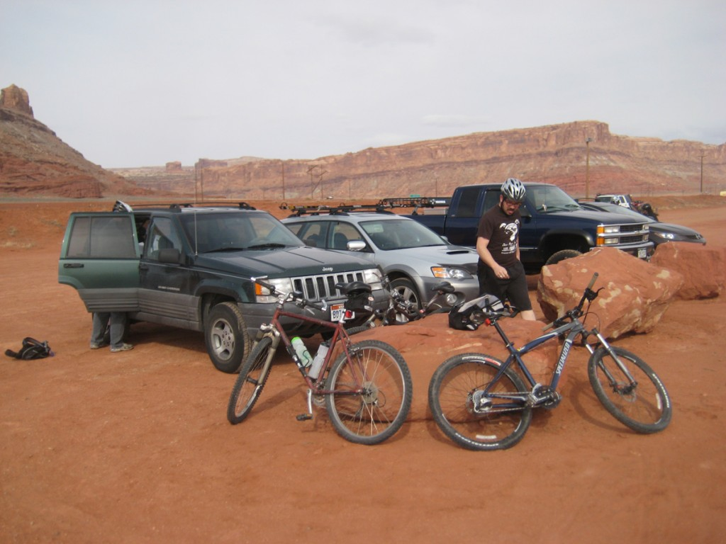 Getting ready to ride.