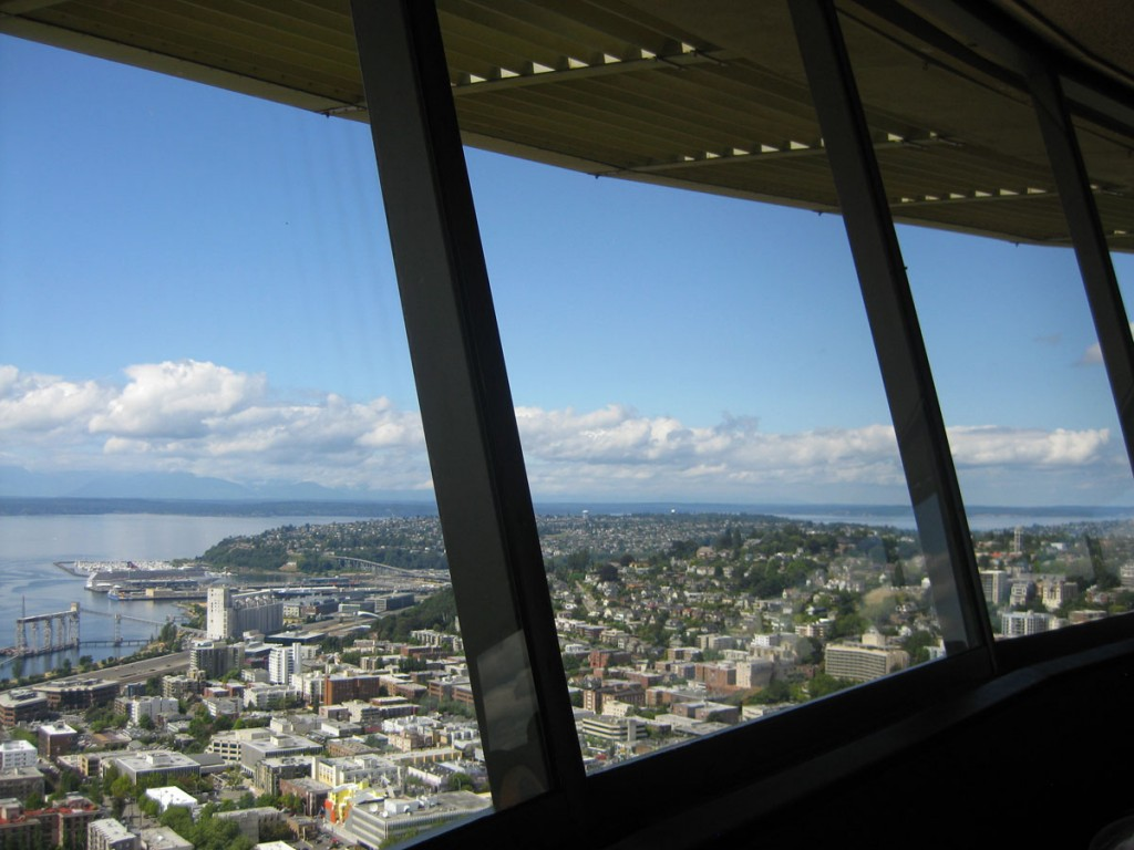 Puget Sound from the Space Needle restaurant.