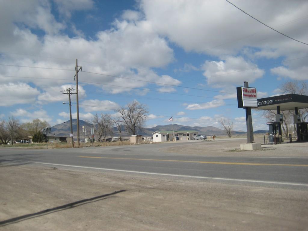 The thriving metropolis of Elberta, Utah.