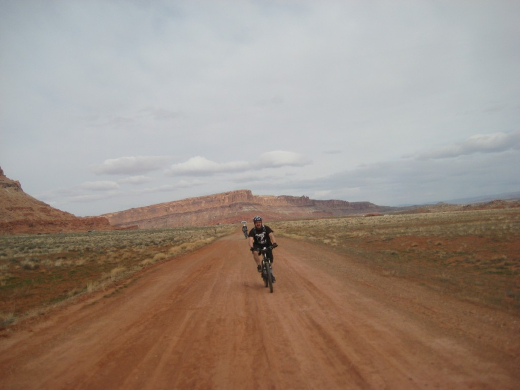 The first couple miles of the Bar M were dirt road.