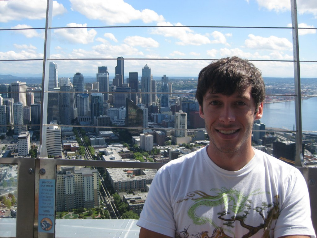 Me on the observation deck of the Space Needle.