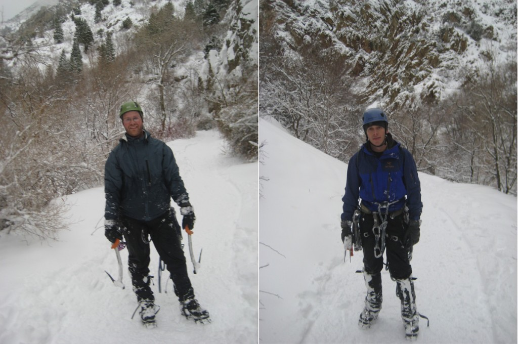 Crisco and me after the climb and the brutal descent through thigh-deep snow.