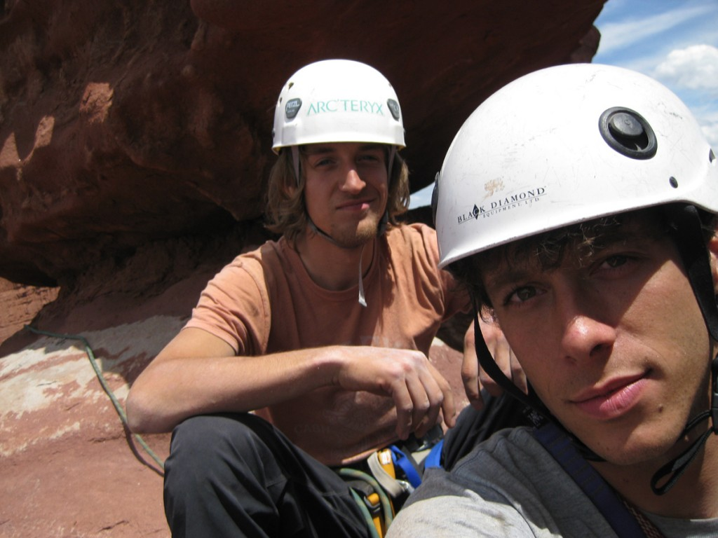 Aaron and me at the top of pitch 4.