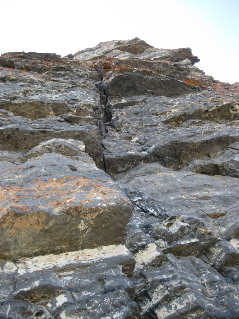 Cool rock and cool crack on pitch 7.