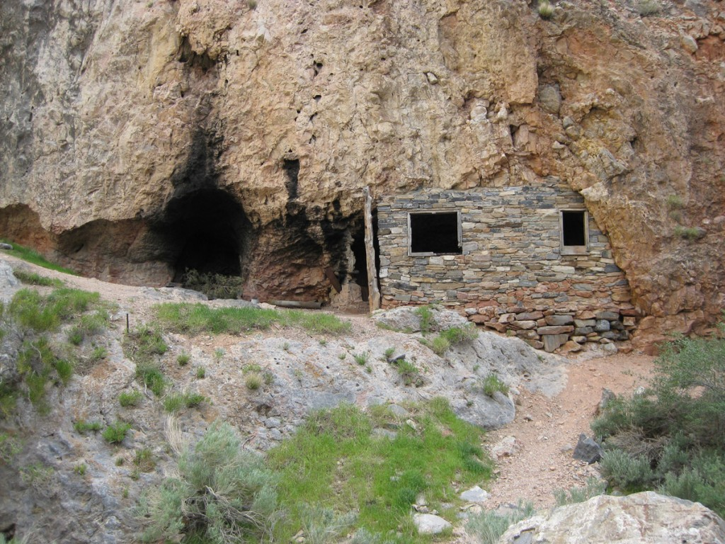 An old abandoned hermit's cabin in Marjum Canyon.