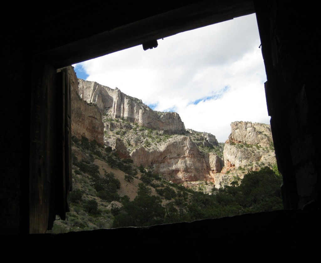 Awesome Marjum cliffs as seen from the hermit's cabin.