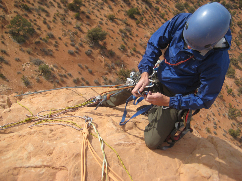 Getting ready to rappel, part 2.