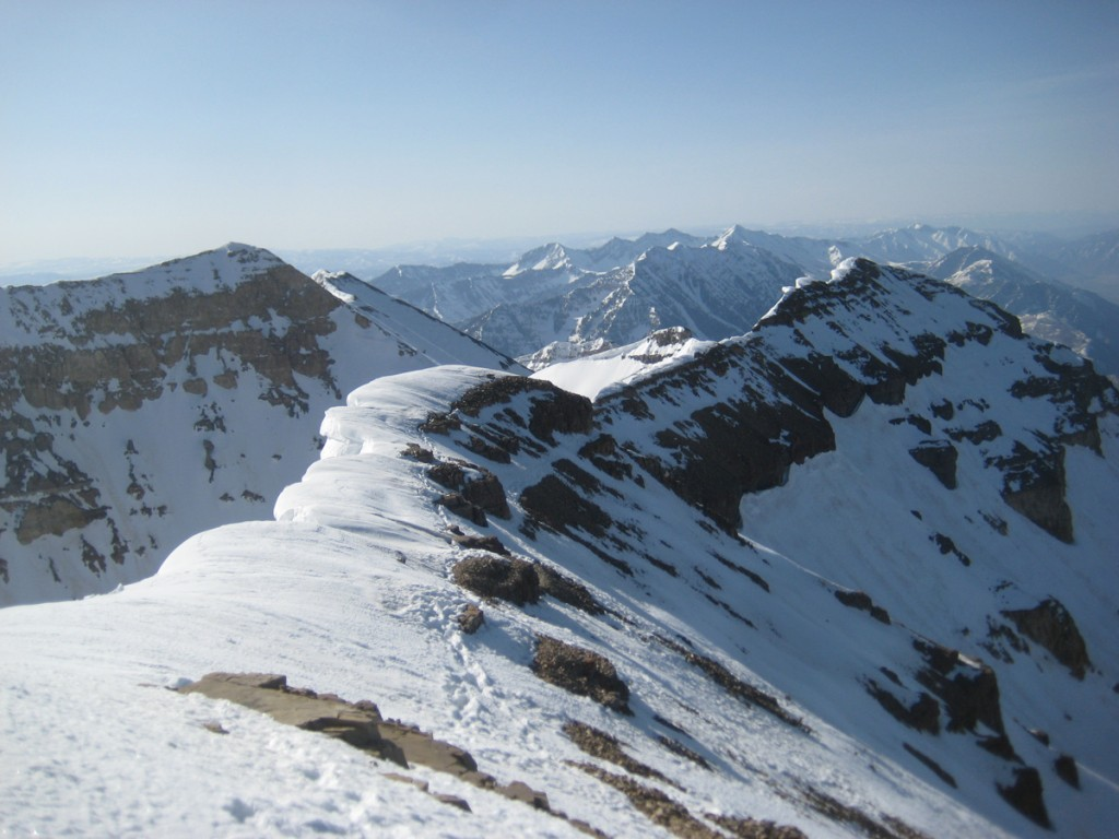 Looking south from the summit.