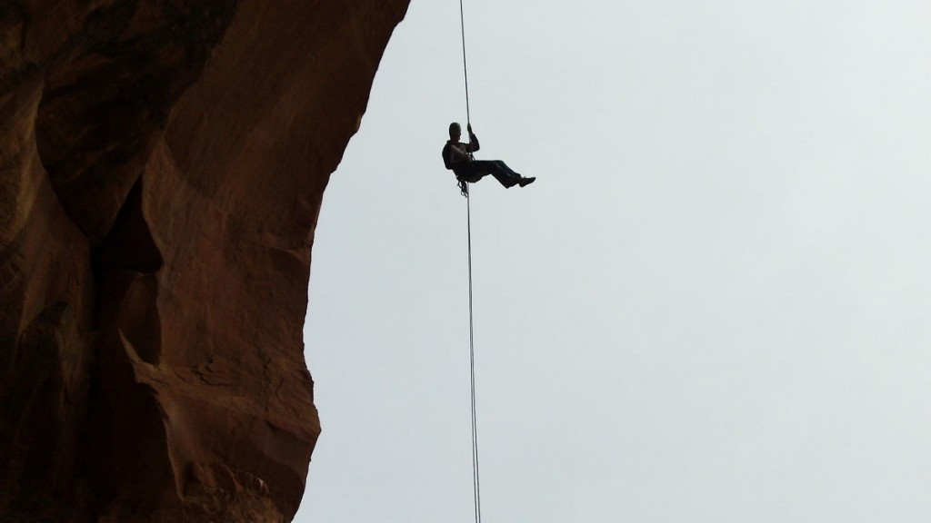Christian rappelling.
