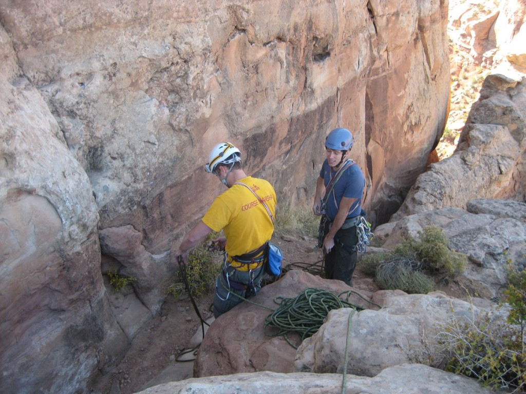 Dennis and me at the bottom of pitch 4.
