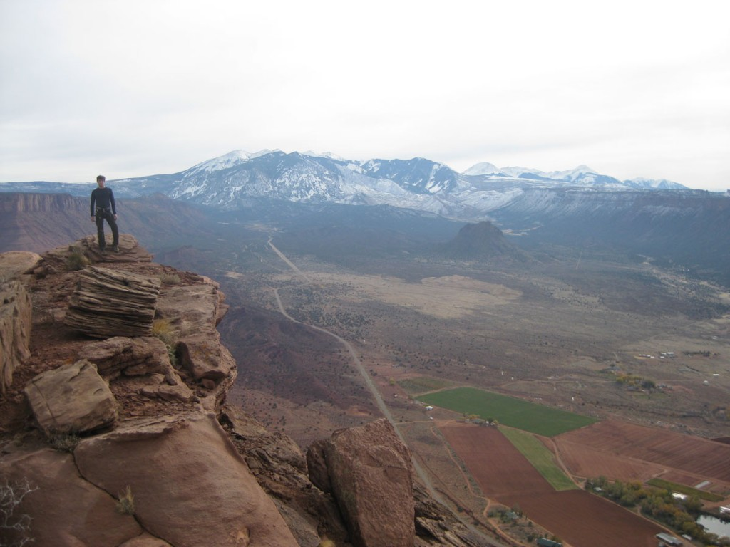 Me on top. The La Sal mountains are in the background.