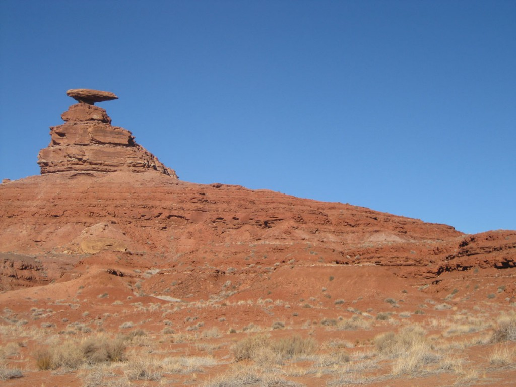 View of Mexican Hat from where I parked.