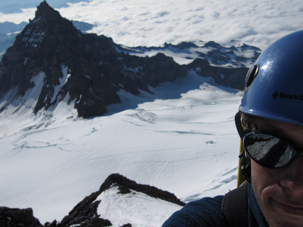 Me, with Little Tahoma in the background.