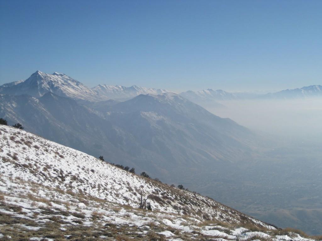Looking toward the north and main summits of Mt. Timpanogos.