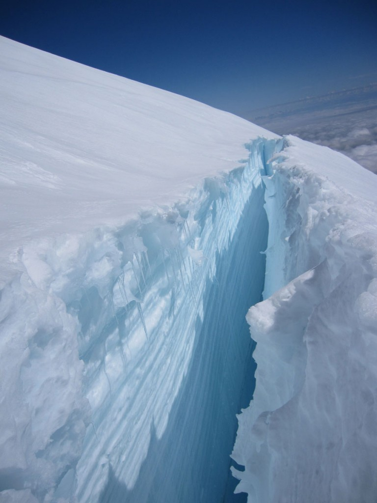 Another crevasse.
