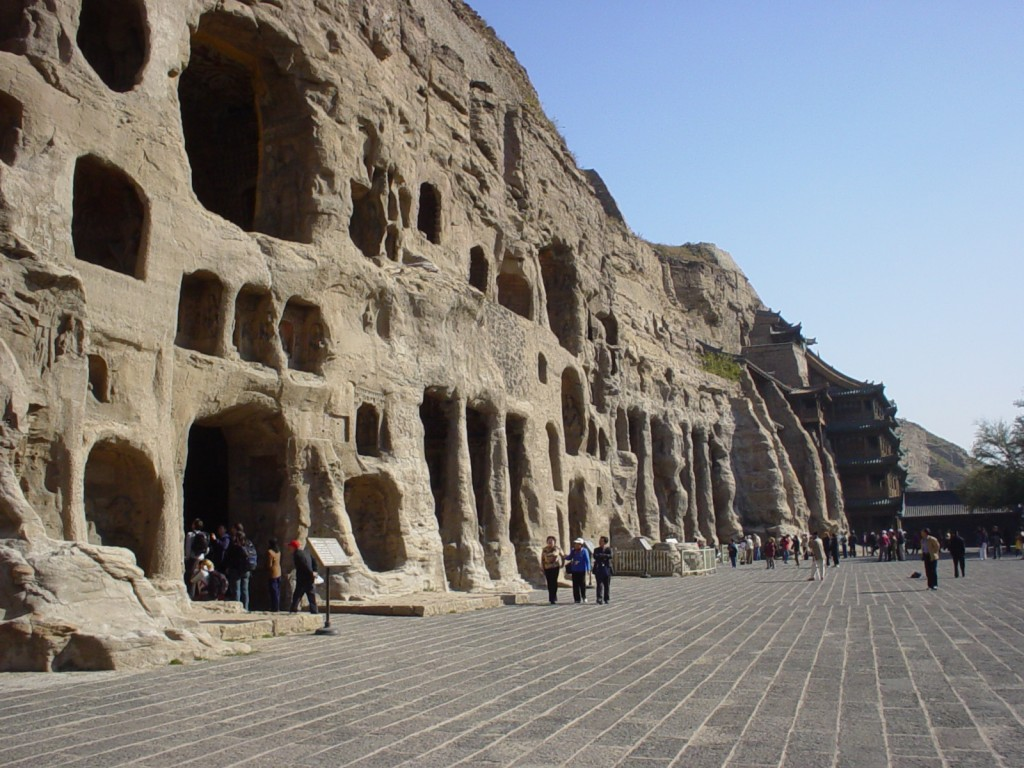 These caves are full of thousands of Buddhas, from just a couple inches high to 40 feet high.