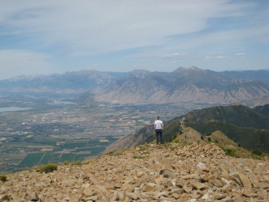 Looking north to Provo Peak.