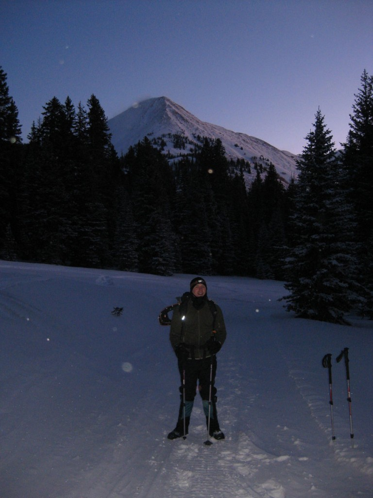 Jeff near Geyser Pass with Mt. Tomasaki in the background.