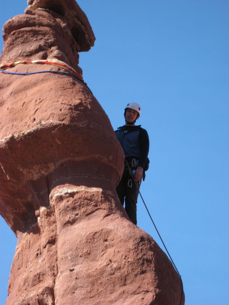 Me almost at the top.