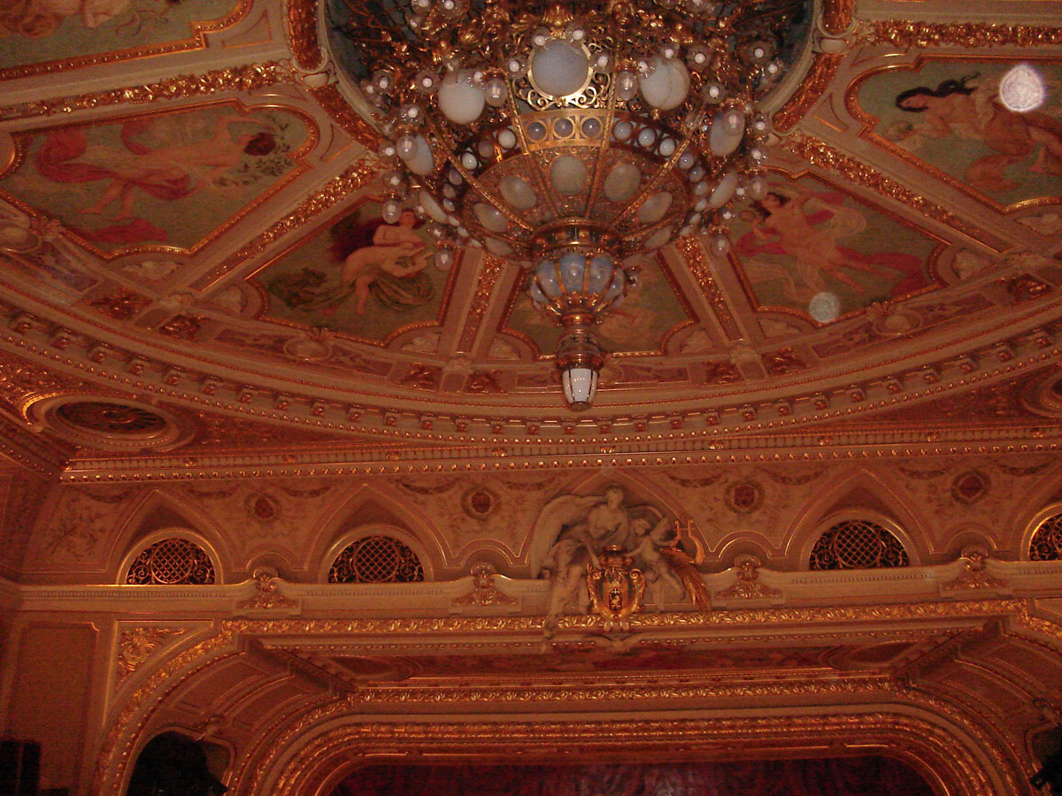 The ceiling of the opera house.