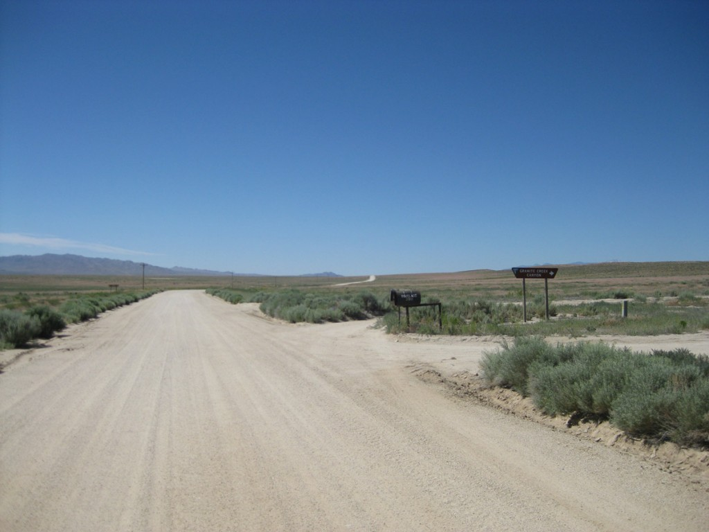 "The ""main"" dirt road where I waited for a couple hours."