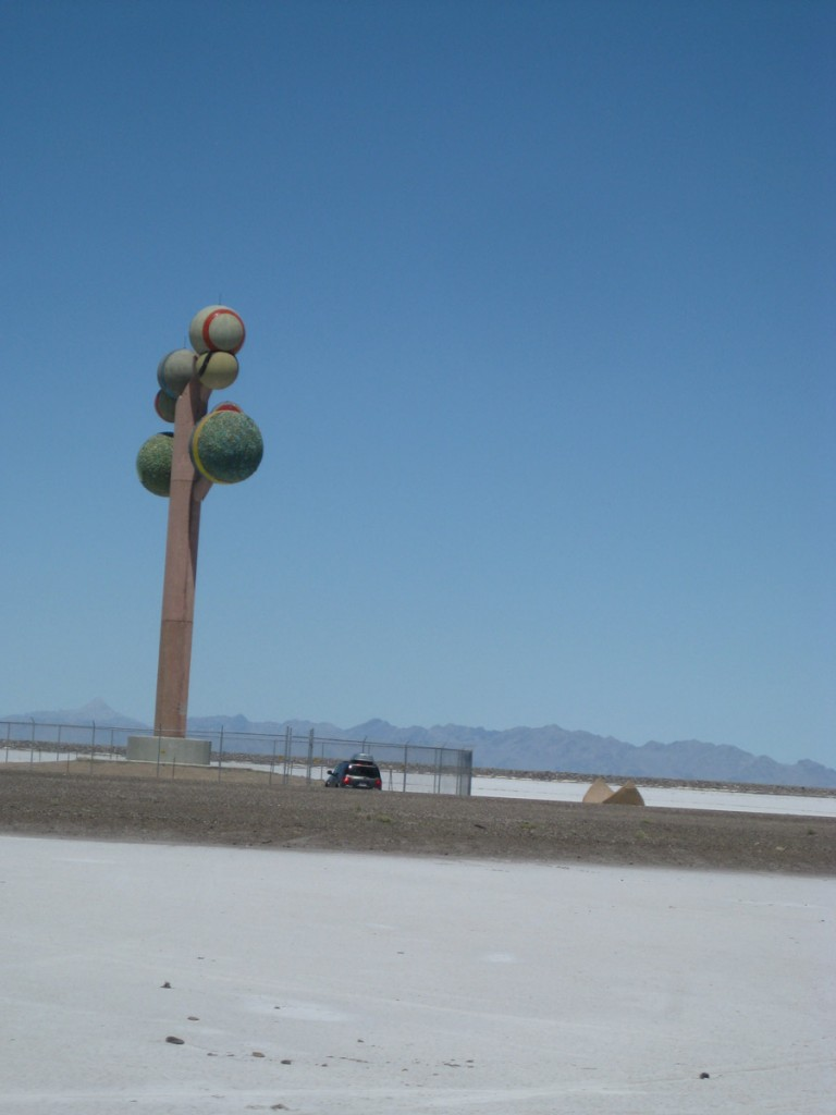 This monstrosity is just north of I-80 on the Bonneville Salt Flats.