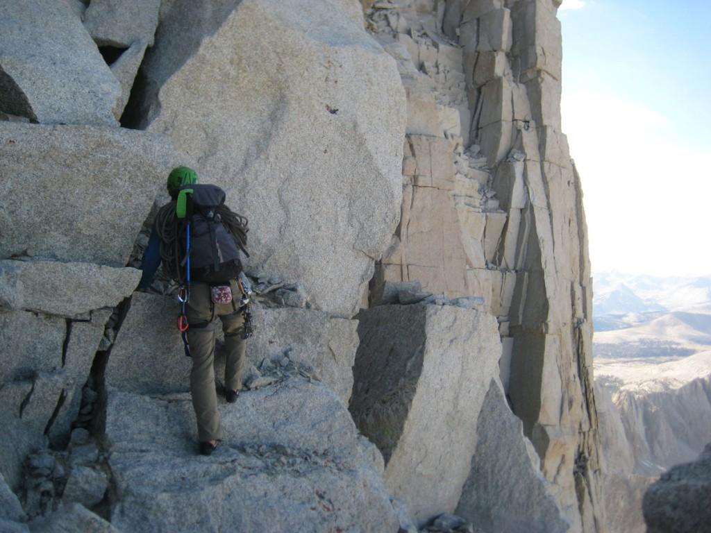 Jonny scrambling near the top.