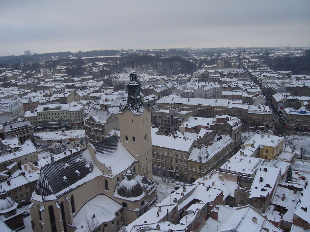 The city in winter.