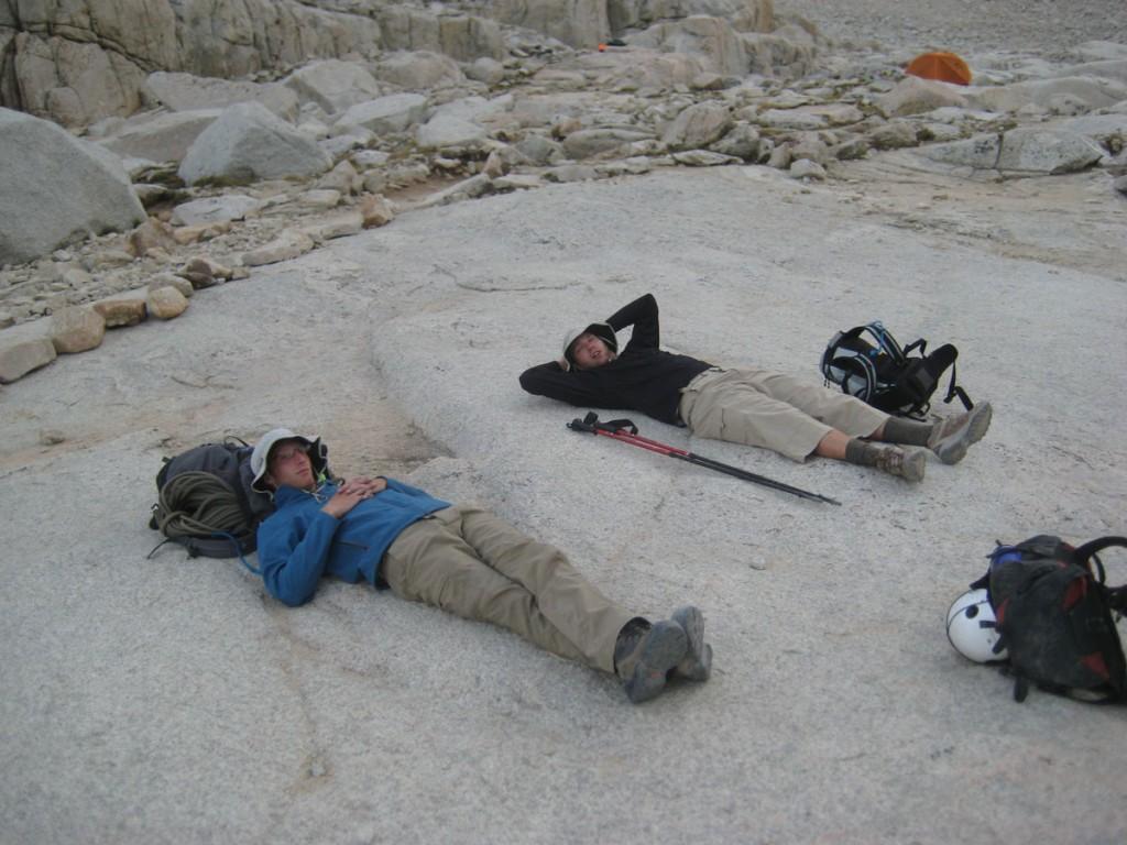 Jonny and Matt taking a break.