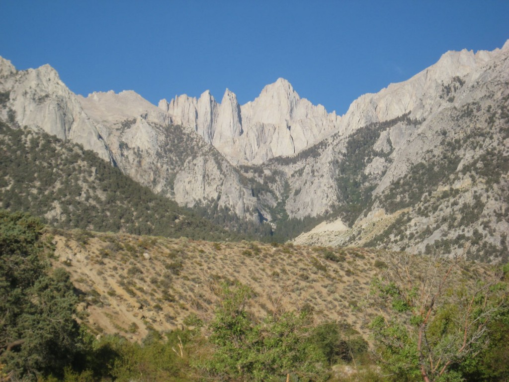 Mt. Whitney and its east face.