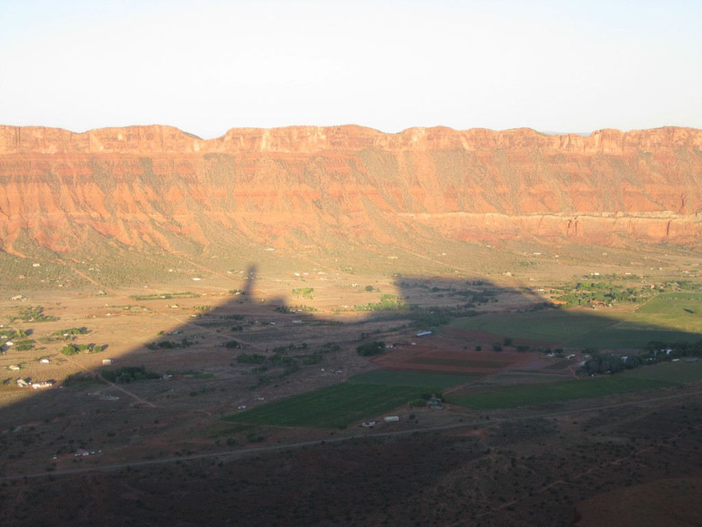 The shadow of Castleton, the Rectory, and the Priest.