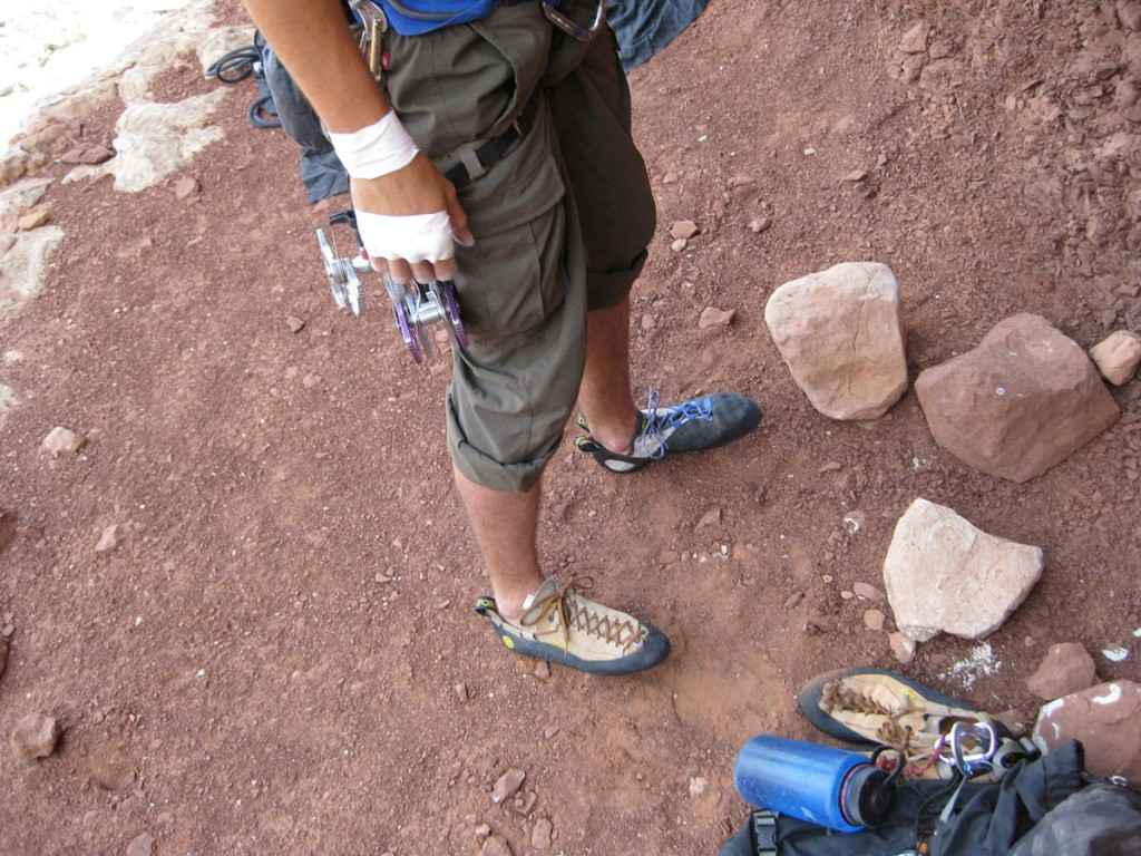I had to use one trad shoe and one sport shoe because I'd somehow lost my other trad shoe somewhere.