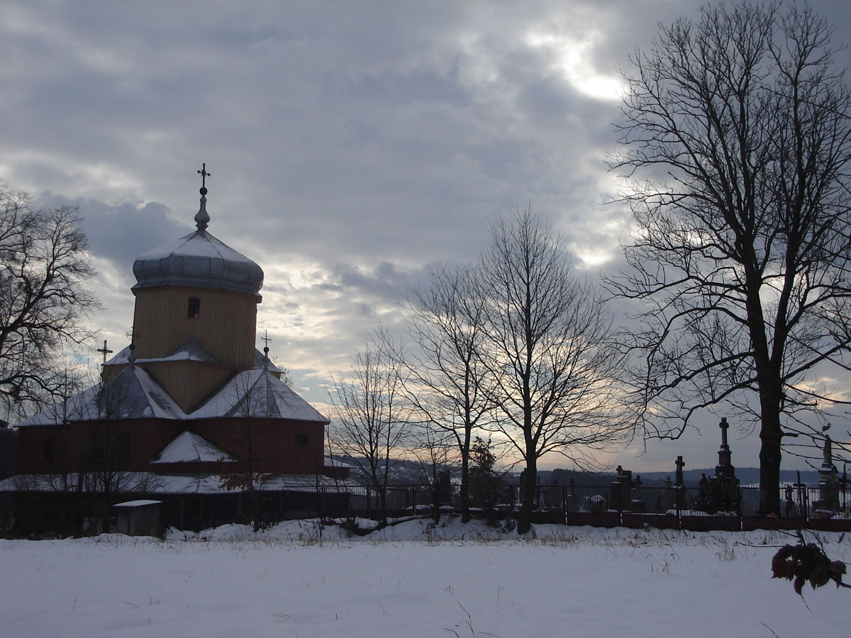 Church and cemetery.