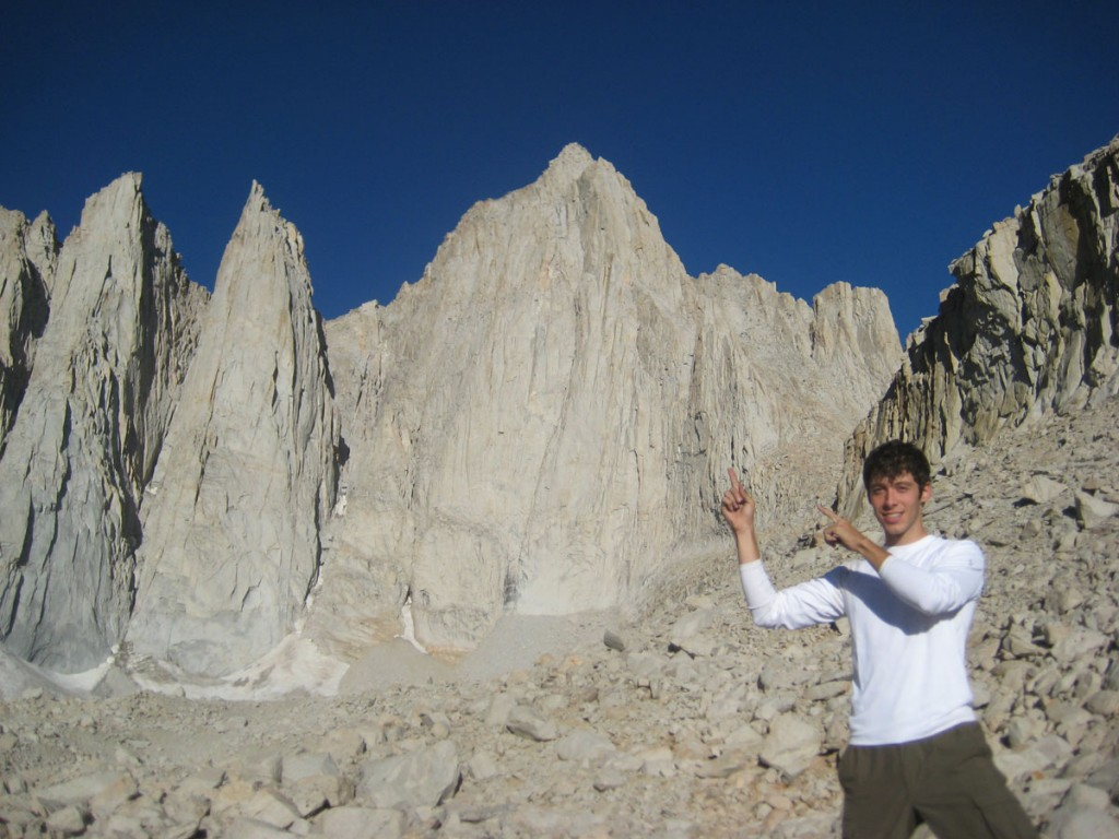 Me and the beautiful east face of Mt. Whitney