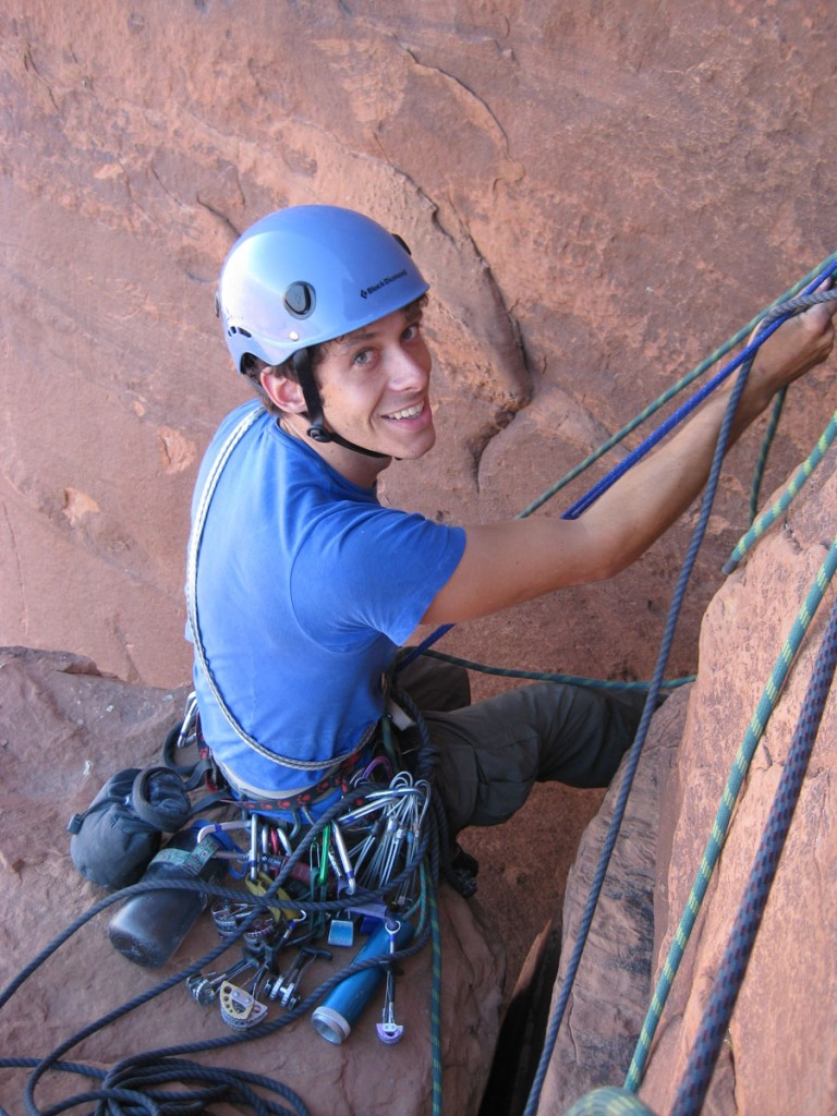 Me at the belay.